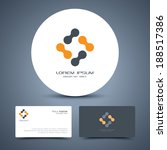 vector business card template... | Shutterstock .eps vector #188517386