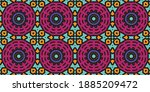 beautiful circular pattern.... | Shutterstock .eps vector #1885209472