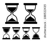 Sand Glass Clock Icons Set....
