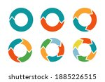 colorful circle arrows set... | Shutterstock .eps vector #1885226515