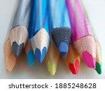 colored wooden pencils. pencils ...   Shutterstock . vector #1885248628