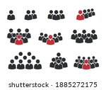people group icon set  working...   Shutterstock .eps vector #1885272175