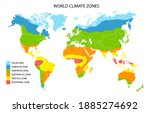 world climate zones  geographic ... | Shutterstock . vector #1885274692