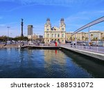 View Of The Port Vell In...