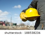 builder with yellow hardhat and ... | Shutterstock . vector #188538236