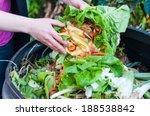 composting the kitchen waste   Shutterstock . vector #188538842