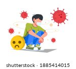 solitude and depression from... | Shutterstock .eps vector #1885414015