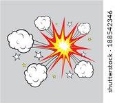 comic explosion illustration | Shutterstock .eps vector #188542346