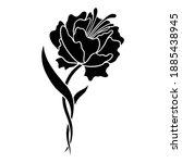 roses silhouette vector. art...   Shutterstock .eps vector #1885438945
