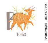 B For Bongo Antelope. Cute...