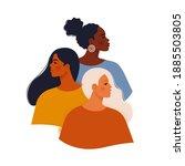 multi ethnic beauty. female... | Shutterstock .eps vector #1885503805