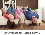 funny time for family at home  | Shutterstock . vector #188552942