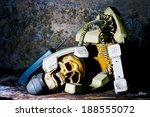 old phone still life ... | Shutterstock . vector #188555072