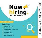 job vacancy templates. we are... | Shutterstock .eps vector #1885598128