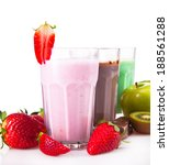 fresh milk  strawberry  lime ... | Shutterstock . vector #188561288