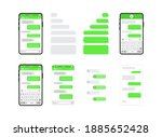 set of chat templates  messages ... | Shutterstock .eps vector #1885652428