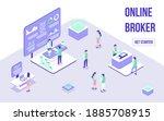 broker online  forex trading... | Shutterstock .eps vector #1885708915