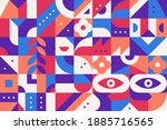 geometry minimalistic artwork... | Shutterstock .eps vector #1885716565