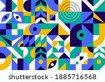 geometry minimalistic artwork...   Shutterstock .eps vector #1885716568