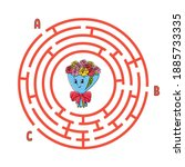 circle maze. game for kids....   Shutterstock .eps vector #1885733335