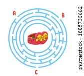 circle maze. game for kids....   Shutterstock .eps vector #1885733662