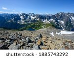 Looking down Sahale Arm to North Cascades wilderness