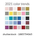 trending colors of the 2021... | Shutterstock .eps vector #1885754065