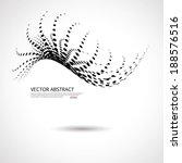 vector halftone dots 3d... | Shutterstock .eps vector #188576516
