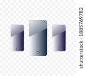 smartphone on transparent...   Shutterstock .eps vector #1885769782
