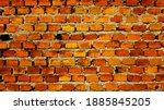 vintage facade brick stone wall ... | Shutterstock . vector #1885845205