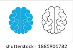 Human Brain Icon With Neural...