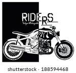 vintage motorcycle   Shutterstock .eps vector #188594468