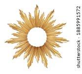 Gold sunburst venetian accent...