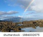 Rainbow over Shark