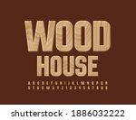 vector eco logo wood house....   Shutterstock .eps vector #1886032222
