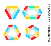 impossible shapes. penrose... | Shutterstock .eps vector #1886042572