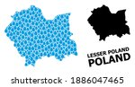 vector mosaic and solid map of... | Shutterstock .eps vector #1886047465
