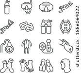 diving icon illustration vector ...   Shutterstock .eps vector #1886064022