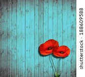Flower Poppies And Turquoise...