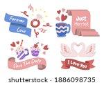 valentine label vector logo for ... | Shutterstock .eps vector #1886098735
