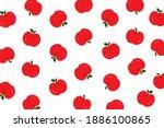 fruit pattern.red apple... | Shutterstock .eps vector #1886100865