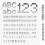 font dot led display | Shutterstock .eps vector #188614586