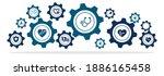 heart disease treatment icon... | Shutterstock .eps vector #1886165458