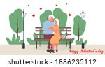 valentine's day senior couple.... | Shutterstock .eps vector #1886235112