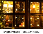 Restaurant Window Decorated For ...