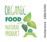 eco label bio template. ecology ... | Shutterstock .eps vector #188626382