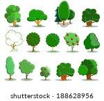 tree icon set | Shutterstock .eps vector #188628956