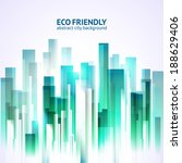eco friendly abstract city