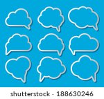 set of cloud shaped speech... | Shutterstock .eps vector #188630246
