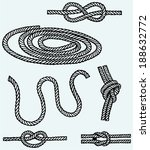 nautical rope knots. isolated...   Shutterstock .eps vector #188632772